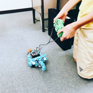 子どもロボットプログラミング教室の様子