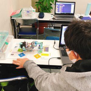 ロボットプログラミング様子